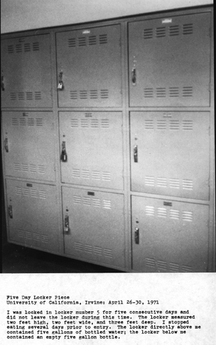Five Day Locker Piece, 1971